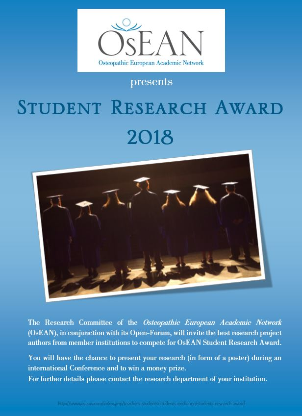 OsEAN Research Award Poster 2018